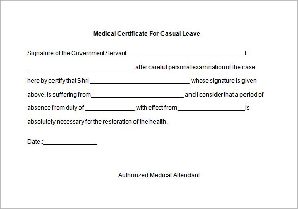 leave application format – Casual Leave Application