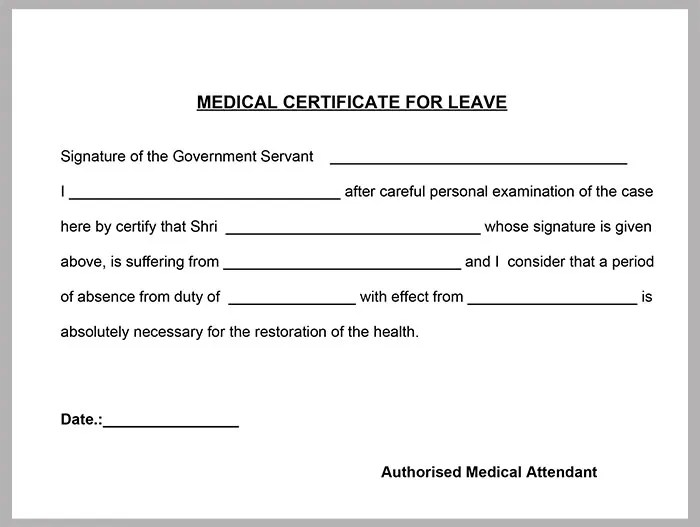 medical certificate template for sick leave xv-gimnazija
