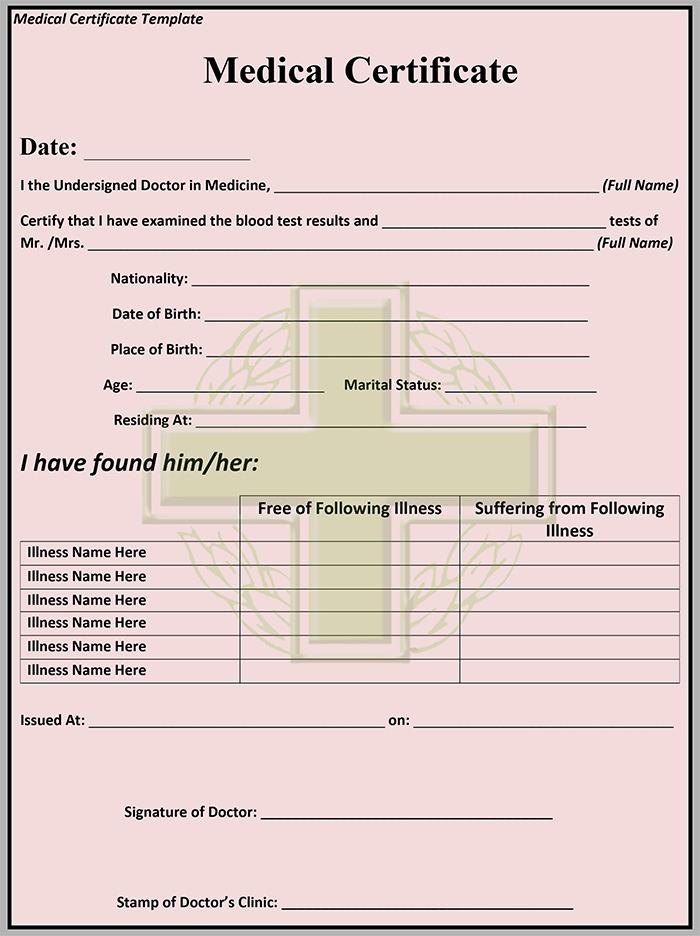 simple medical certificate format dionysusfsluidsprekers