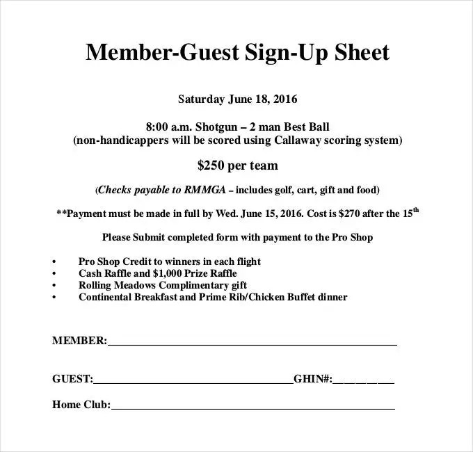 guest sign in sheet template - Josemulinohouse