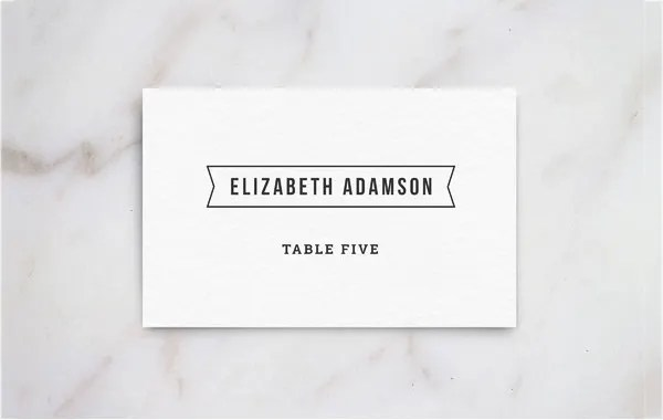 5+ Printable Place Card Templates  Designs Free  Premium Templates - template for name cards