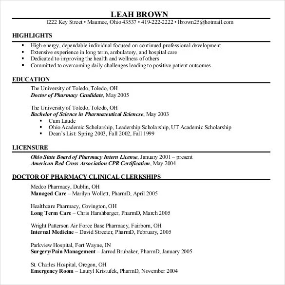 Chronological Resume Template - 23+ Free Samples, Examples, Format