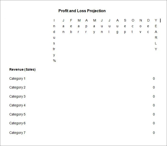 11+ Profit and Loss Statements - Free Templates Free  Premium - profit and loss template free