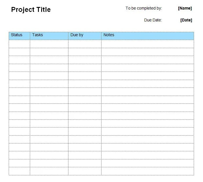 To Do List Template - Free Templates Free \ Premium Templates - project to do list templates