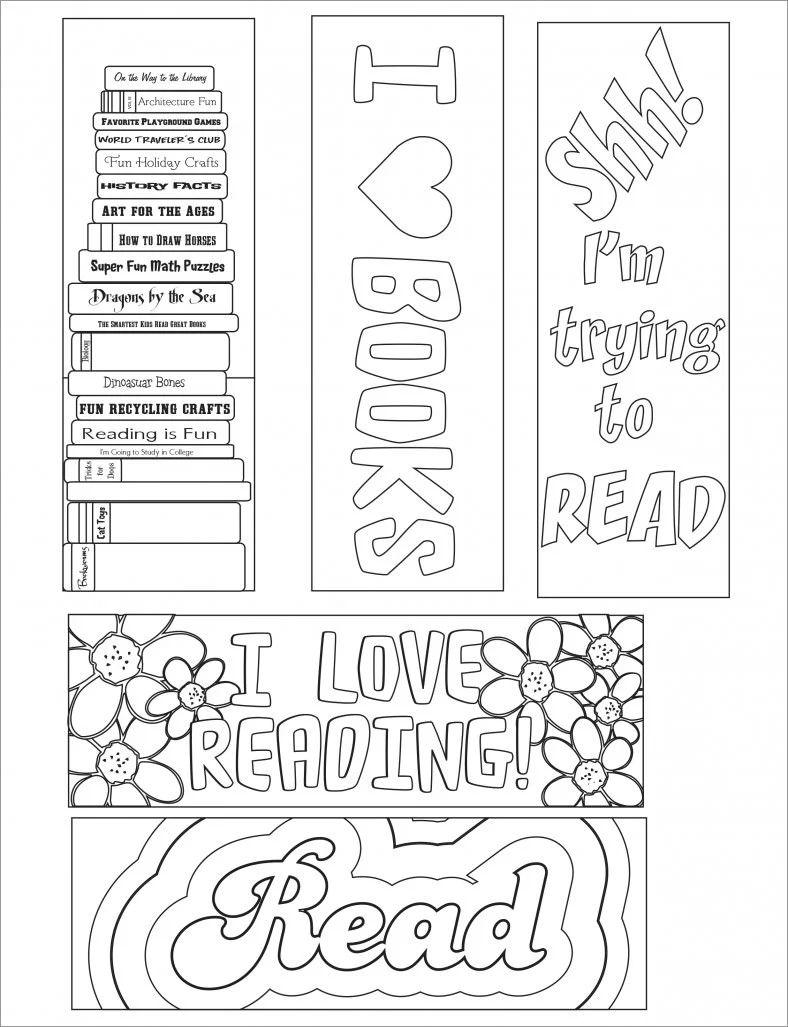 free blank bookmark templates to print