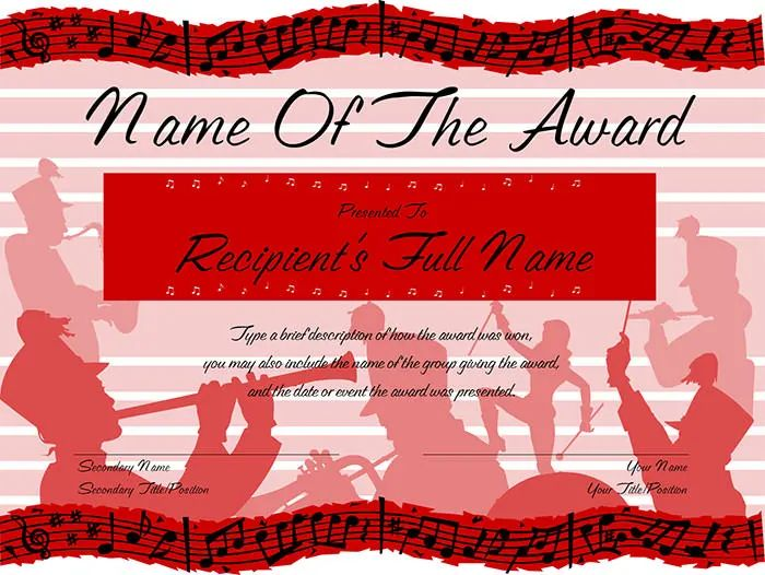 how to create an award certificate