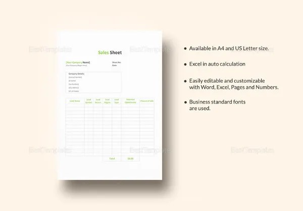 Price Sheet Templates - 12+ Free Excel, Word Documents Download