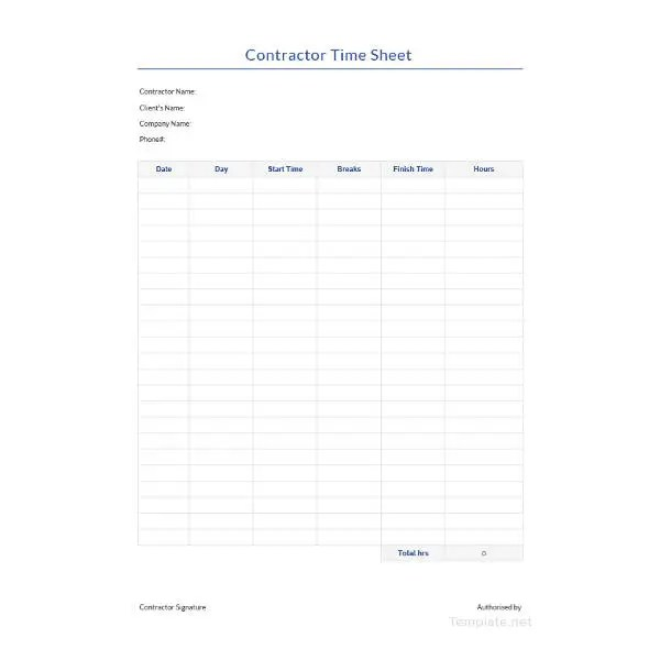 10+ Free Time Sheet Templates - Daily, Monthly, Weekly, Bi-Weekly