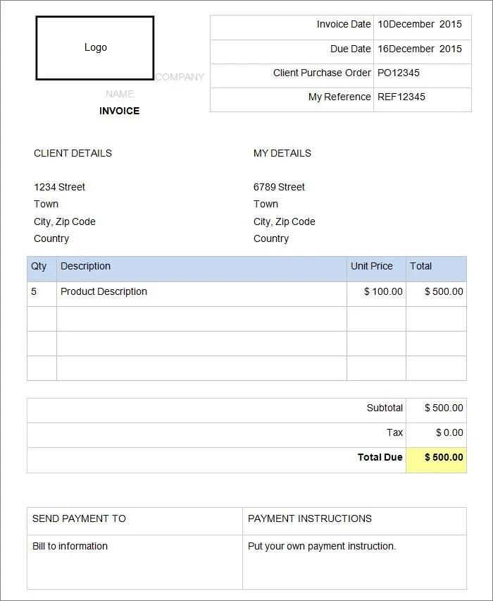 Top Result 60 Unique Invoice Template Microsoft Word 2007 - invoice template microsoft word 2007