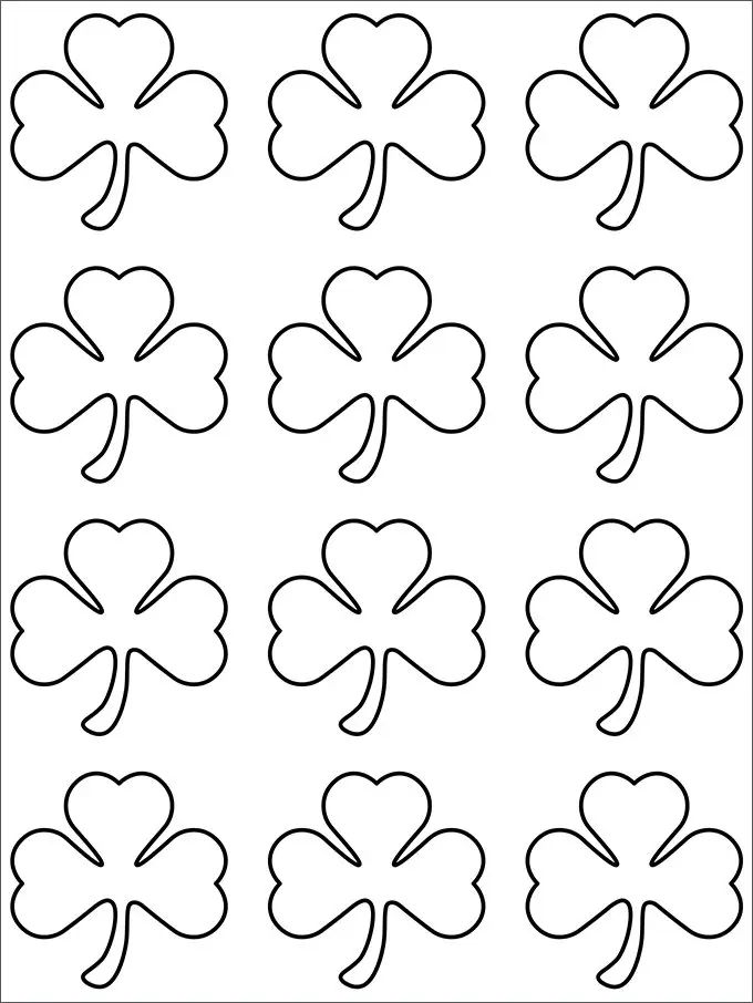 Coloring Pages 4 Leaf Clover