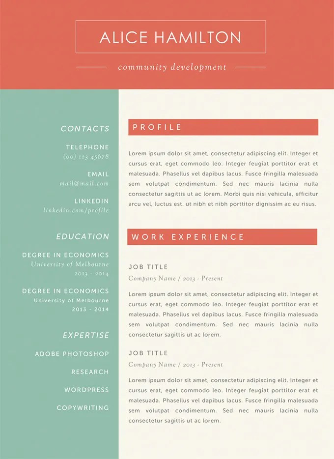 Microsoft Word Resume Template - 49+ Free Samples, Examples, Format - Free Resume Microsoft Word Templates