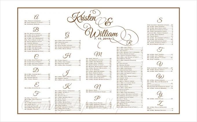 Free Wedding Seating Chart Template Word Wedding Seating Chart