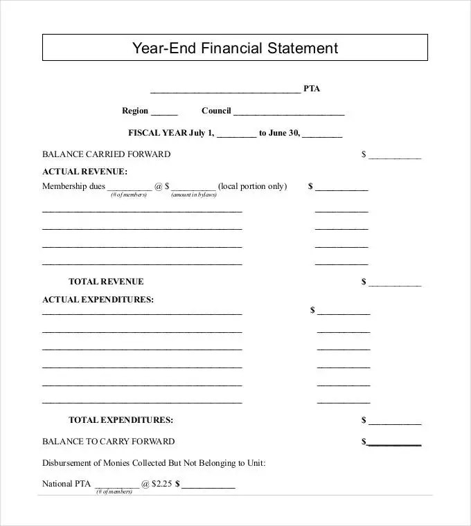 30+ Financial Statement Templates - PDF, DOC Free  Premium Templates