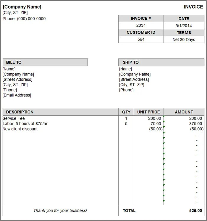 Invoice Format Template - 39+ Free Word, PDF Documents Download - invoice bill