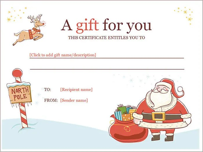 Sample Gift Certificate Template - mandegarinfo