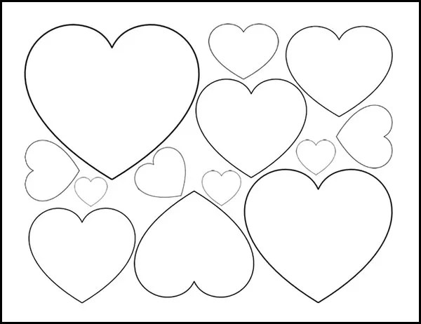 printable heart template - Selol-ink