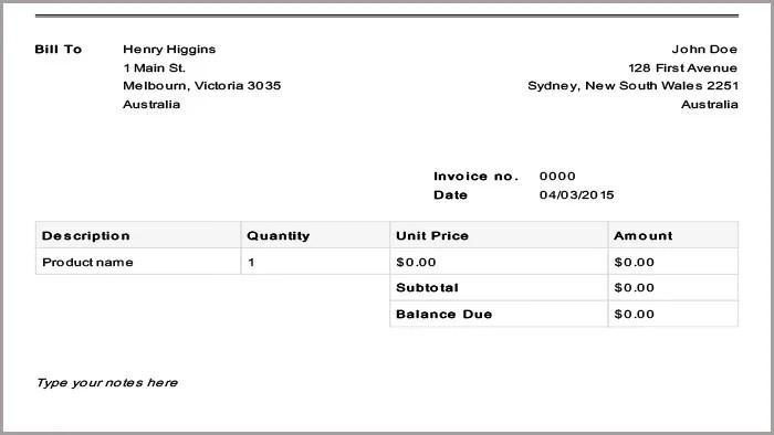 basic invoice template pdf - Josemulinohouse - Free Basic Invoice Template