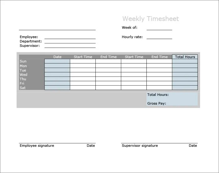 60+ Timesheet Templates - Free Sample, Example, Format Free - timesheets sample