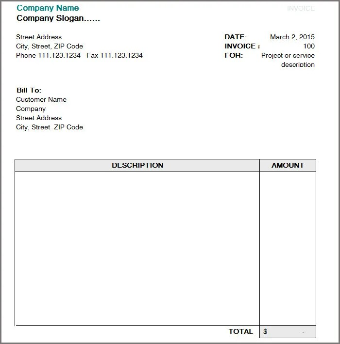 Proforma Commercial Invoice Ireland Invoice Format Template 30 Free Word Pdf Documents
