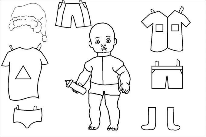 Paper Dolls Free  Premium Templates