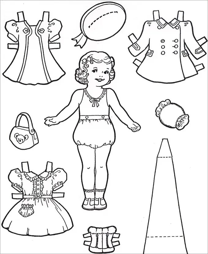 paper dolls template - Selol-ink - paper doll template