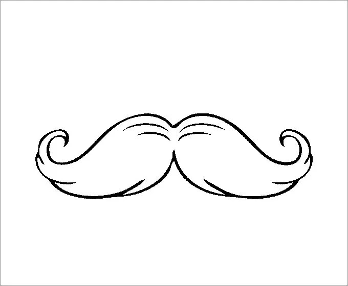 graphic regarding Lorax Mustache Printable called Mustaches Coloring Webpages - Arenda-stroy