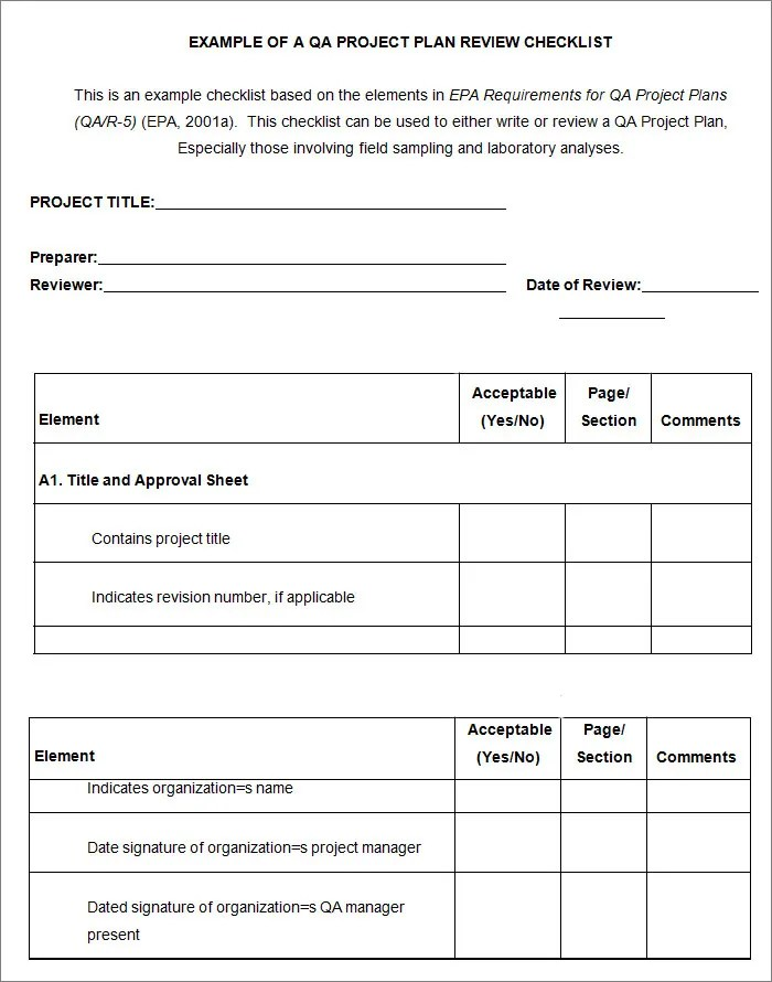 Project Checklist Template - 12+ Free Word, PDF Documents Download