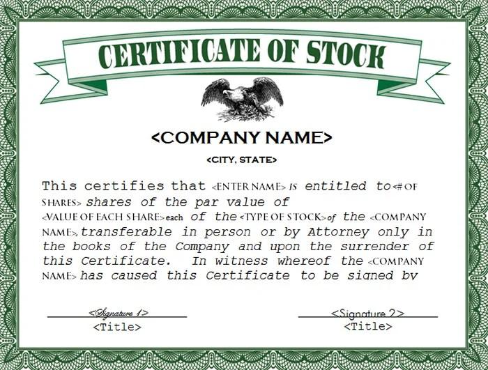 stock certificate template word - Kordurmoorddiner