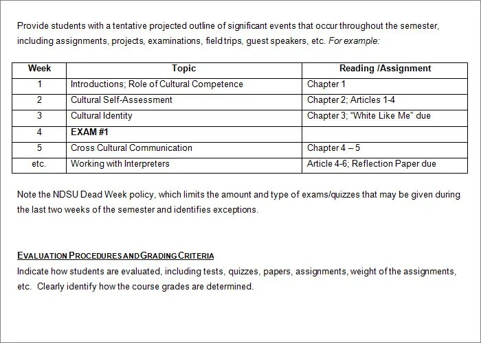 Syllabus Template - Free Templates Free  Premium Templates - sch outline template