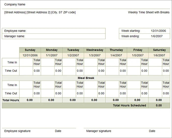 60+ Timesheet Templates - Free Sample, Example, Format Free - weekly timesheet template