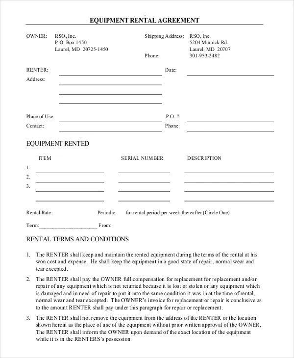form agreement - Fashionstellaconstance - agreement form format