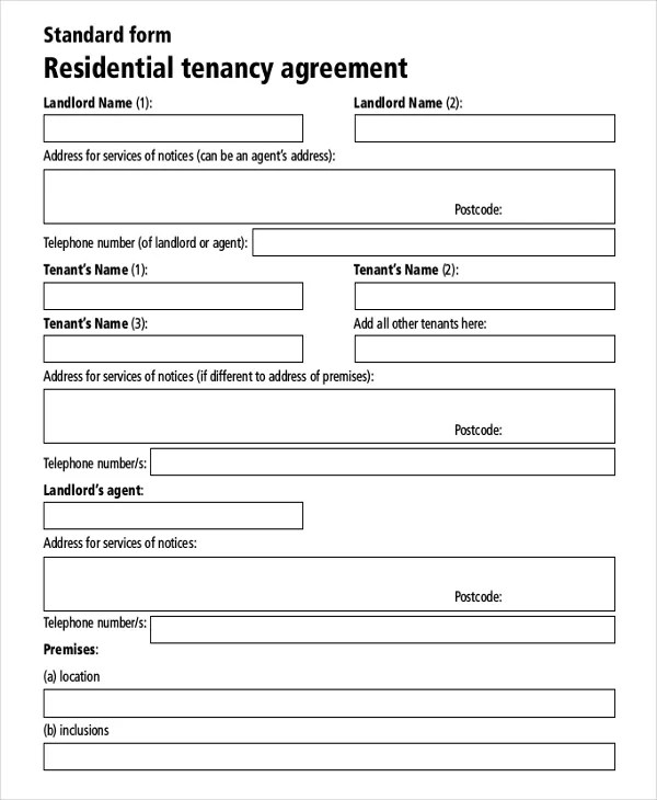 rental agreements templates free - sample residential lease agreement template