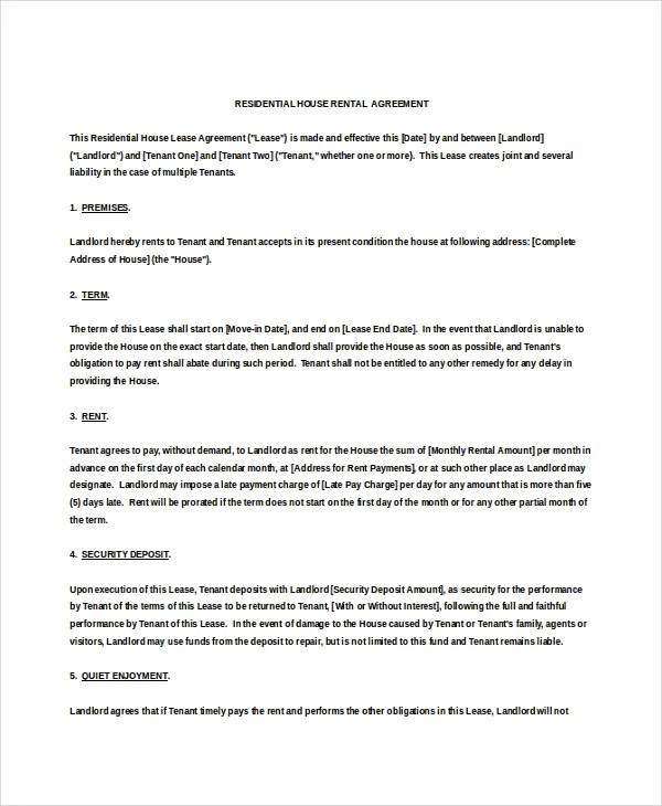 house rent agreement format in word - Ozilalmanoof - agreement format