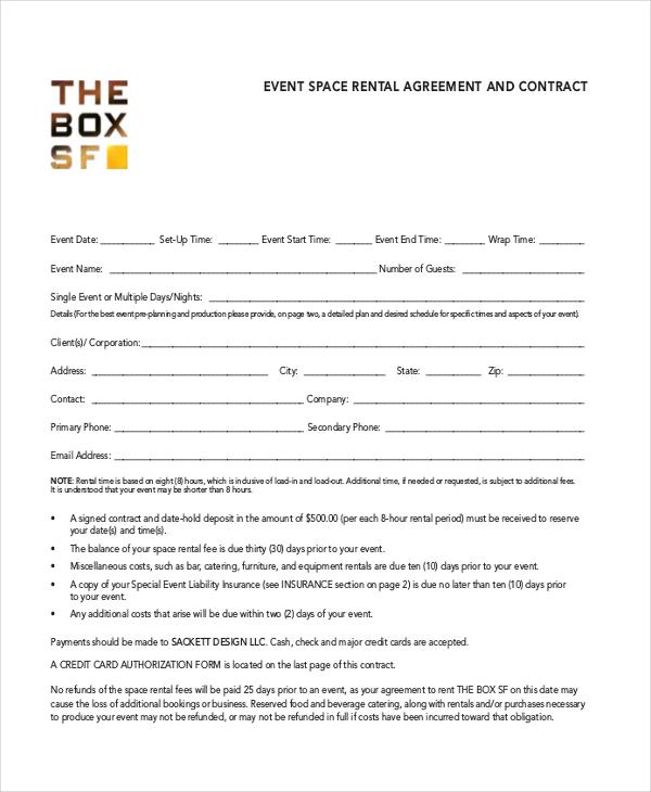 Room Rental Agreement Template \u2013 11+ Free Word, PDF Free Download