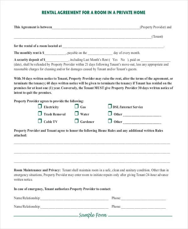 Room Rental Agreement Template Word – Simple Rental Agreement Template Word