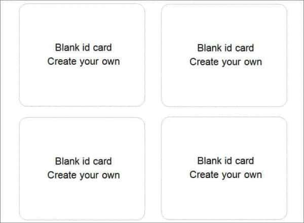 40+ Blank ID Card Templates - PSD, Ai, Vector EPS, DOC Free - free id badge templates