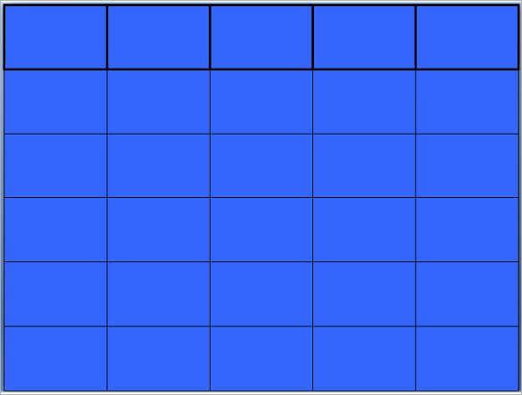 Blank Jeopardy Template - Blank Templates Free  Premium Templates