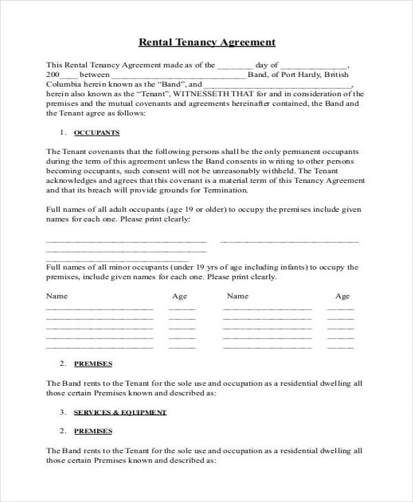 Doc#736952 Printable Rental Lease Agreement u2013 Printable Sample - printable lease agreement sample