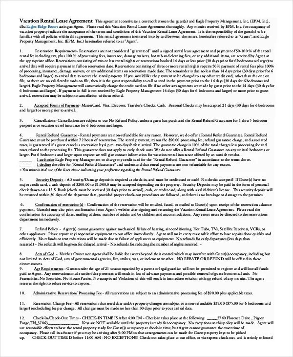 Simple Rental Agreement - 34+ Examples in PDF, Word Free - blank lease agreement example