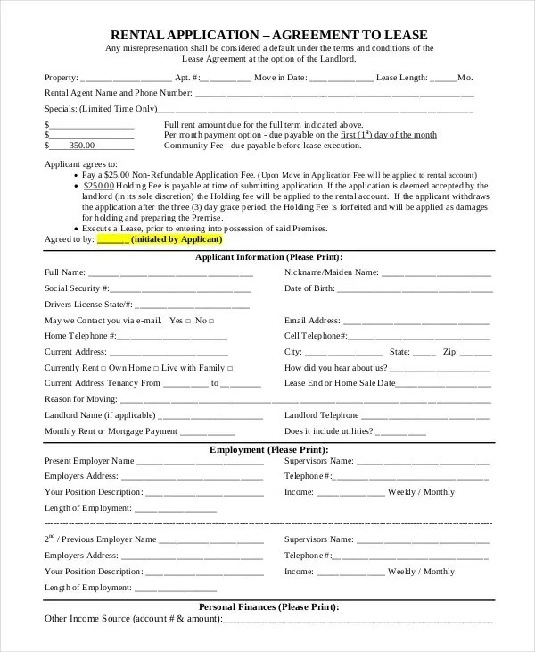 Simple Rental Agreement Examples In Pdf Word Free Premium Rent To