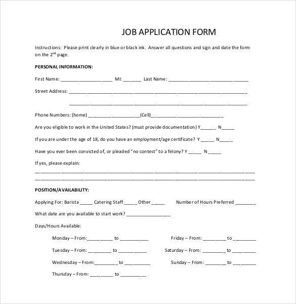 Job Application Form Big Lots Job Application Form 35 Best Job - resume for job application example