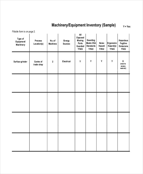 Inventory List Template - 4 Free Word, Excel, PDF Documents - inventory list example