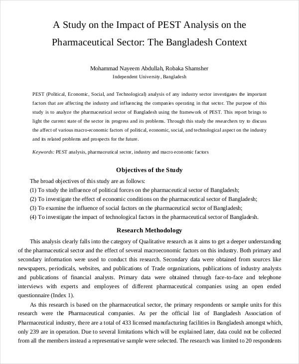 PEST Analysis Template \u2013 PDF Documents Download quantweb - job analysis report