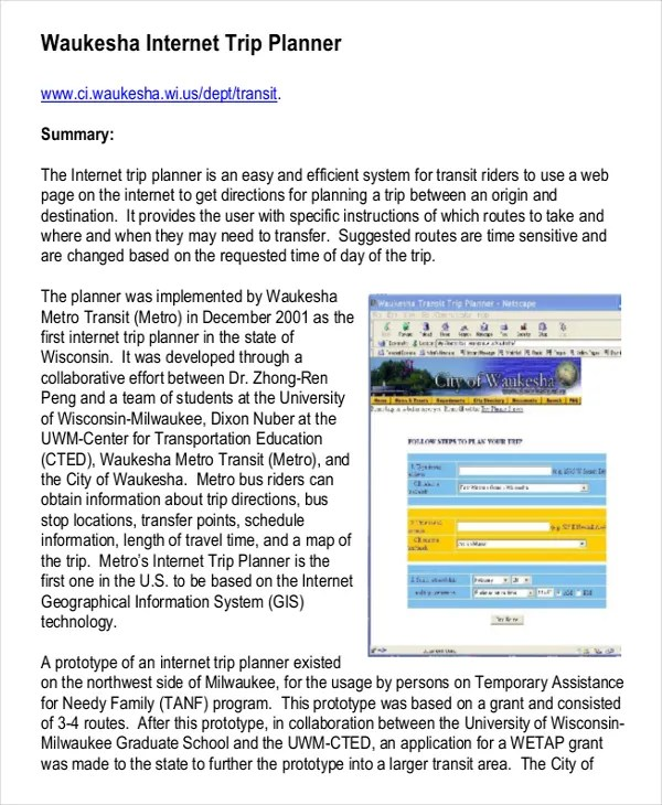 3 Trip Planner Template \u2013 Free Word, PDF Documents Download Free