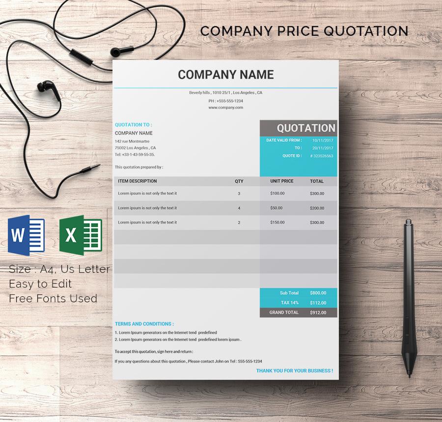 quotation format pdf - fototango - design quotation sample