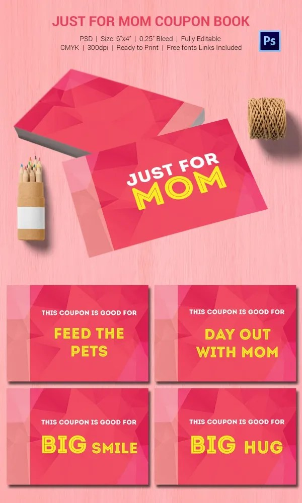 Coupon book for mom template - Metrostyle coupons 40 off