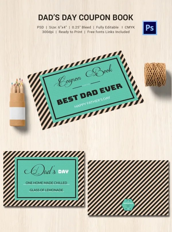 Father day coupon book template - Ocharleys coupon nov 2018 - Coupon Book Printing