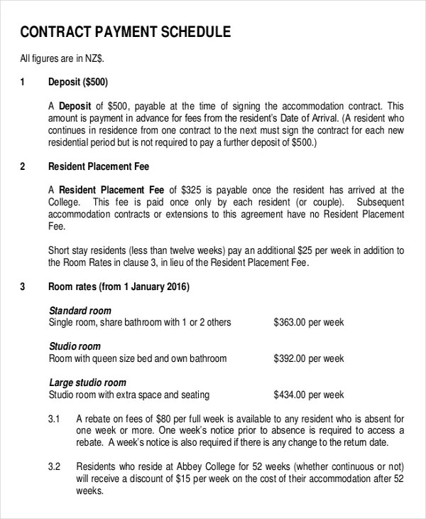 Construction Contract Agreement Payment Plan Agreement Template - free construction contracts templates