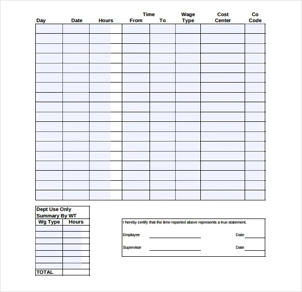 19+ Overtime Sheet Templates \u2013 Free Sample, Example Format Download
