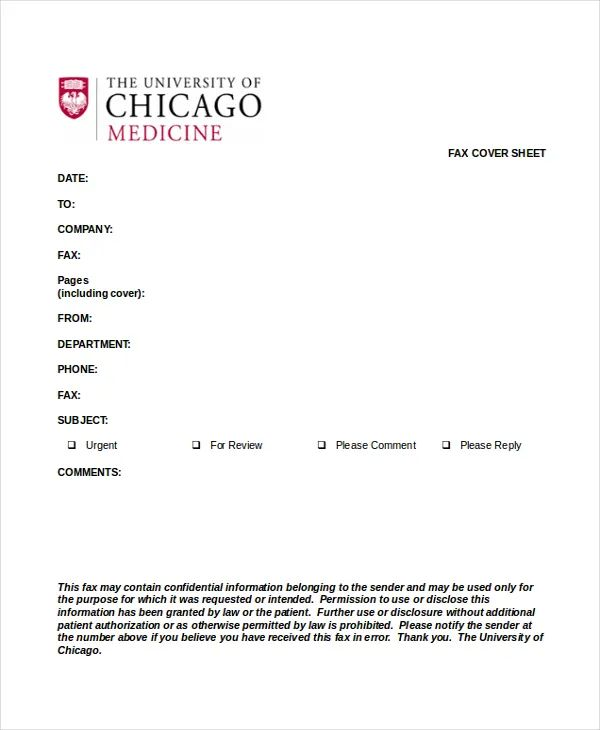 format for fax cover sheet